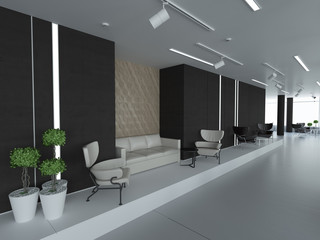 Concept of new empty office