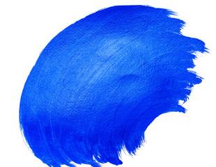 Acrylic bright blue wavy brushstroke background