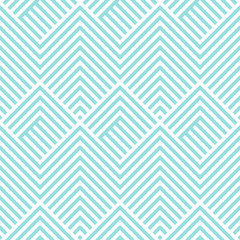 Chevron pattern seamless green aqua and white colors. Fashion design pattern seamless . Geometric stripe abstract background vector.