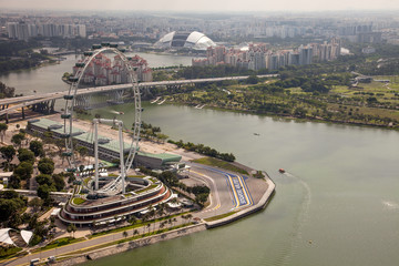 Amazing aerial city views from Singapore
