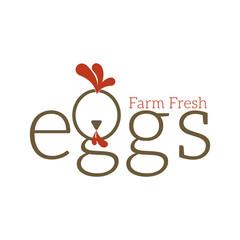 Chiken Farm Fresh Egg Logo