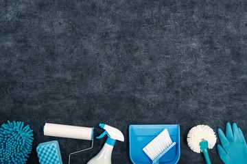 掃除道具 並べて撮影