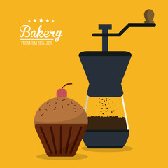 muffin cupcake coffee bakery food shop icon. Colorfull illustration. Vector graphic