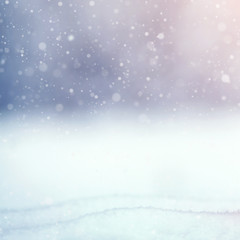 winter background with snow outdoors
