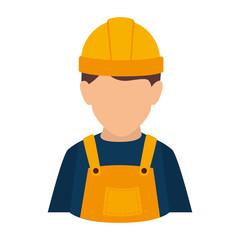 builder construction worker helmet man overall male guy vector illustration isolated