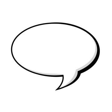 bubble talk thinking speak comic cartoon message vector illustration isolated