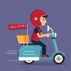 delivery with scooter