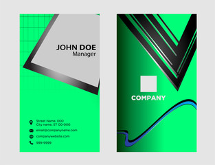 Business card background set