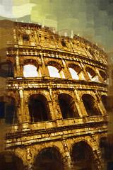great antique Rome - Coloseum, artwork in retro style