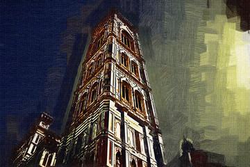 Florence art illustration painting