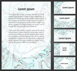 Mint marbling paper flayer template and business cards set