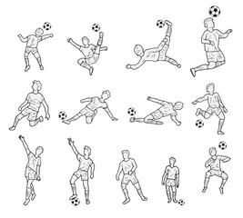 Actie voetbal spelers