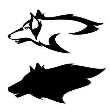 wolf head profile design