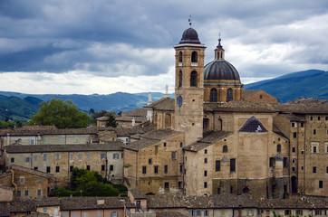 Urbino view, city in Italy, Marche region
