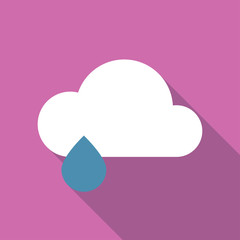 Cloud wheater icon flat illustration