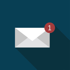 Mail icon flat illustration