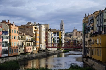 Town of  Girona in Catalonia, Spain