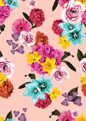 Bright floral print pattern