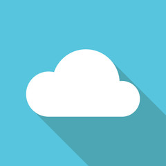 Cloud icon flat illustration