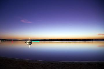 Sunset Sea Reflection