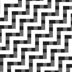 Black and White Zig Zag Lines Pattern - Background Design