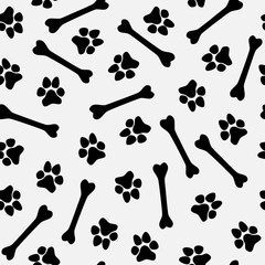 black and white doggy pattern