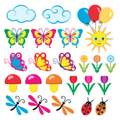 Colourful icons for children.