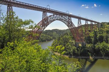 Viaduct of Garabit by Eiffel in Auvergne region