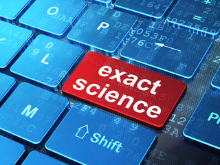 Science concept: Exact Science on computer keyboard background
