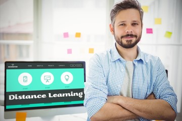 Composite image of distance learning interface