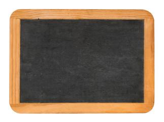 Kreidetafel auf weißem Hintergrund
