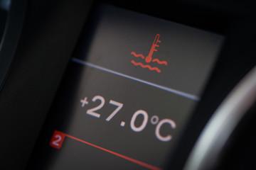 Car coolant warning