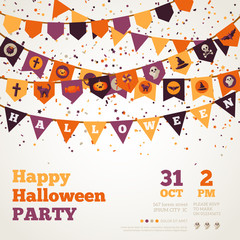 Halloween Background with Flags