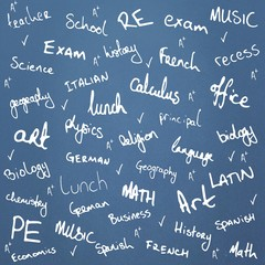 Composite image of school buzzwords