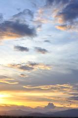 Dusk sky, Beautiful cloudscape