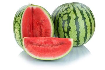Wassermelone geschnitten Früchte Frucht Obst Sommer Freisteller