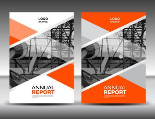 Orange Cover template, annual report, business brochure flyer, magazine covers, presentation