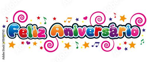 "Banner Feliz Aniversario: ""Banner Feliz Aniversário"" Stock Image And Royalty-free"