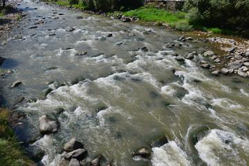 Deurstickers Bos rivier Debed River, Armenia