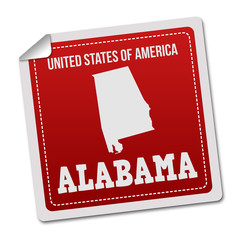 Alabama sticker or label