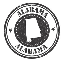 Alabama sign or stamp
