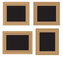 Antique wooden frames.