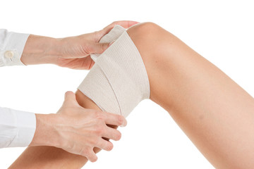 Flexible supportive orthopedic bandage knee.