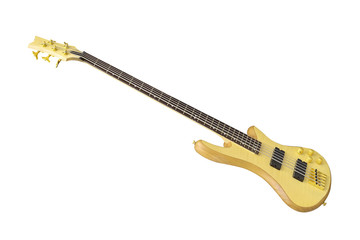 The image of electric guitar under the white background