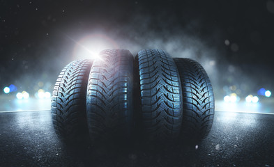 Reifen auf der Straße