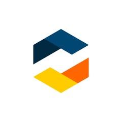 Colorful Hexagon Logo template