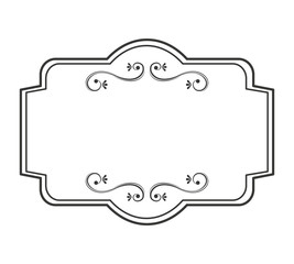 elegant frame decoration isolated