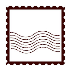 postal stamp classic isolated icon