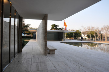 Barcelona Pavilion by Ludwig Mies Van der Rohe Wall mural