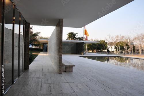Barcelona Pavilion By Ludwig Mies Van Der Rohe Stockfotos Und
